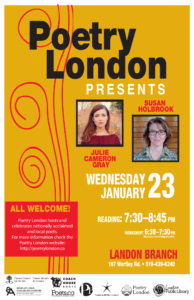Poetry London January 23 Poster