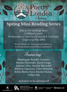 Poetry London Online - Spring Mini Reading Series 2020 - Special Event