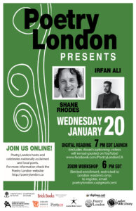 Poetry London Presents Irfan Ali and Shane RhoRdes 2020 01 20